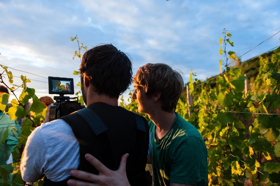 Filmen im Heiligenstein